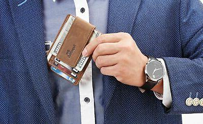 Toughergun Genuine Magnetic Front Money Wallet