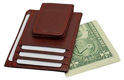 Genuine Leather Money front magnet ID