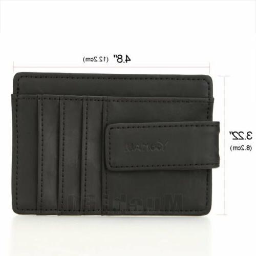 Genuine ID Card Holder Slim Wallet Pocket