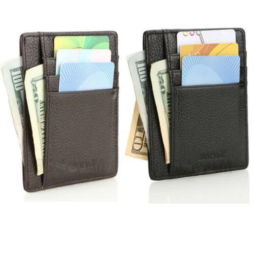 Genuine Money Clip ID Credit Card Holder Wallet Pocket