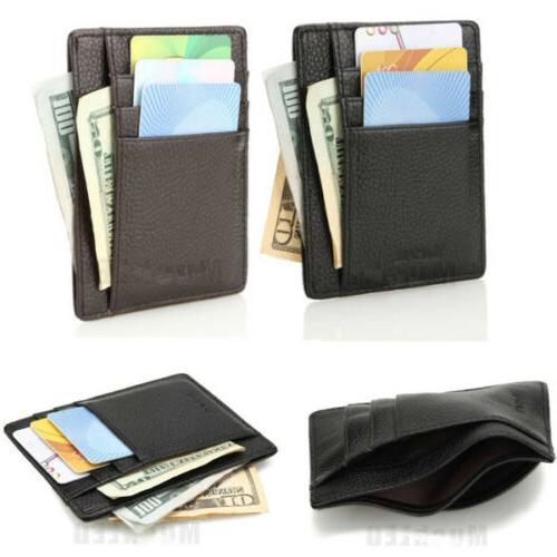 Genuine Money ID Card Holder Wallet Pocket