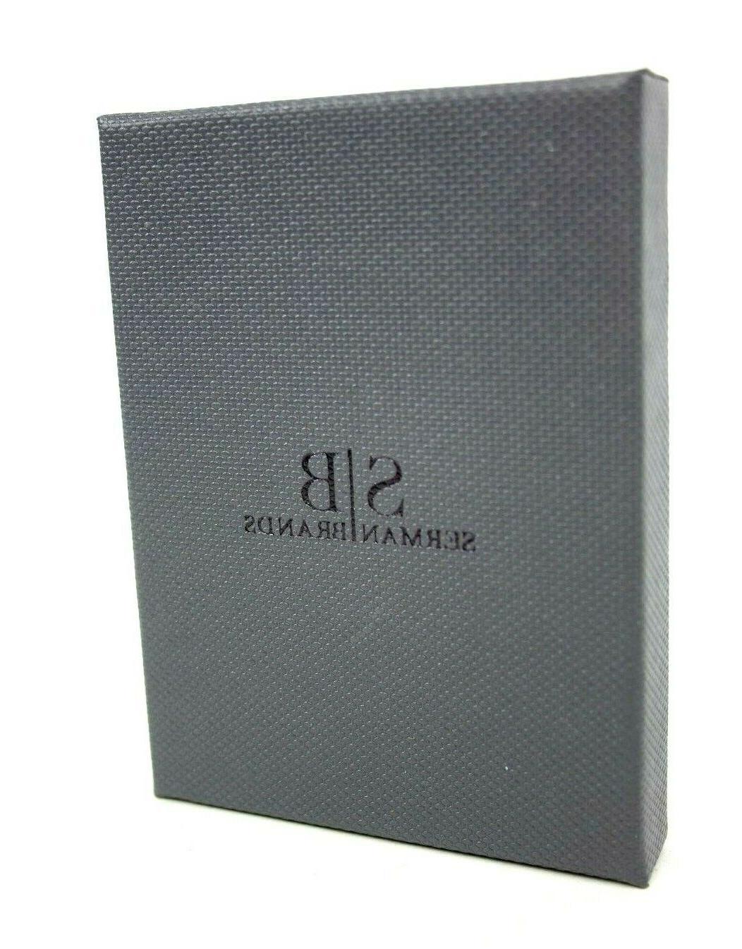 SERMAN BRANDS- Genuine Thin Minimalist Wallet Money Clip