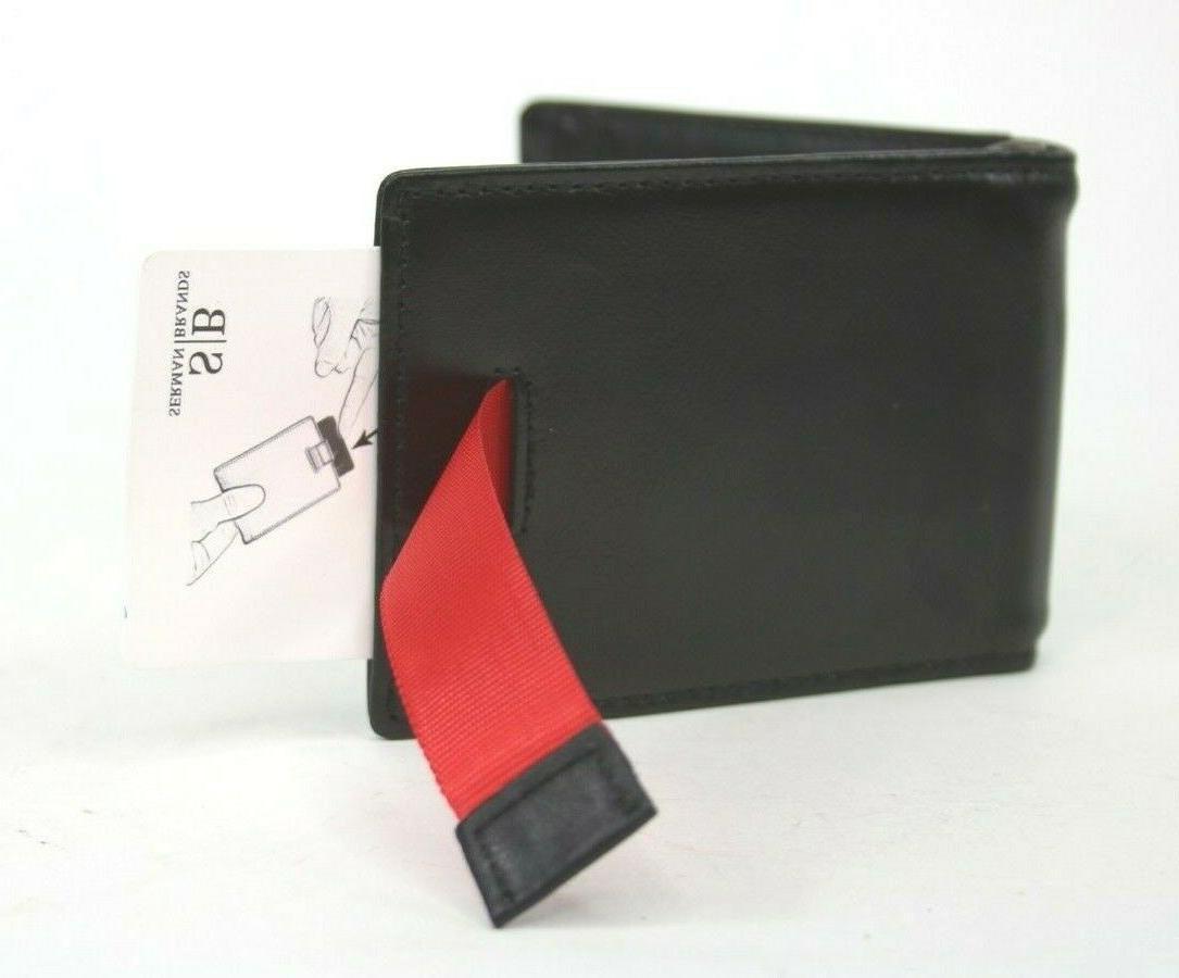 SERMAN Genuine Thin Minimalist Wallet Money
