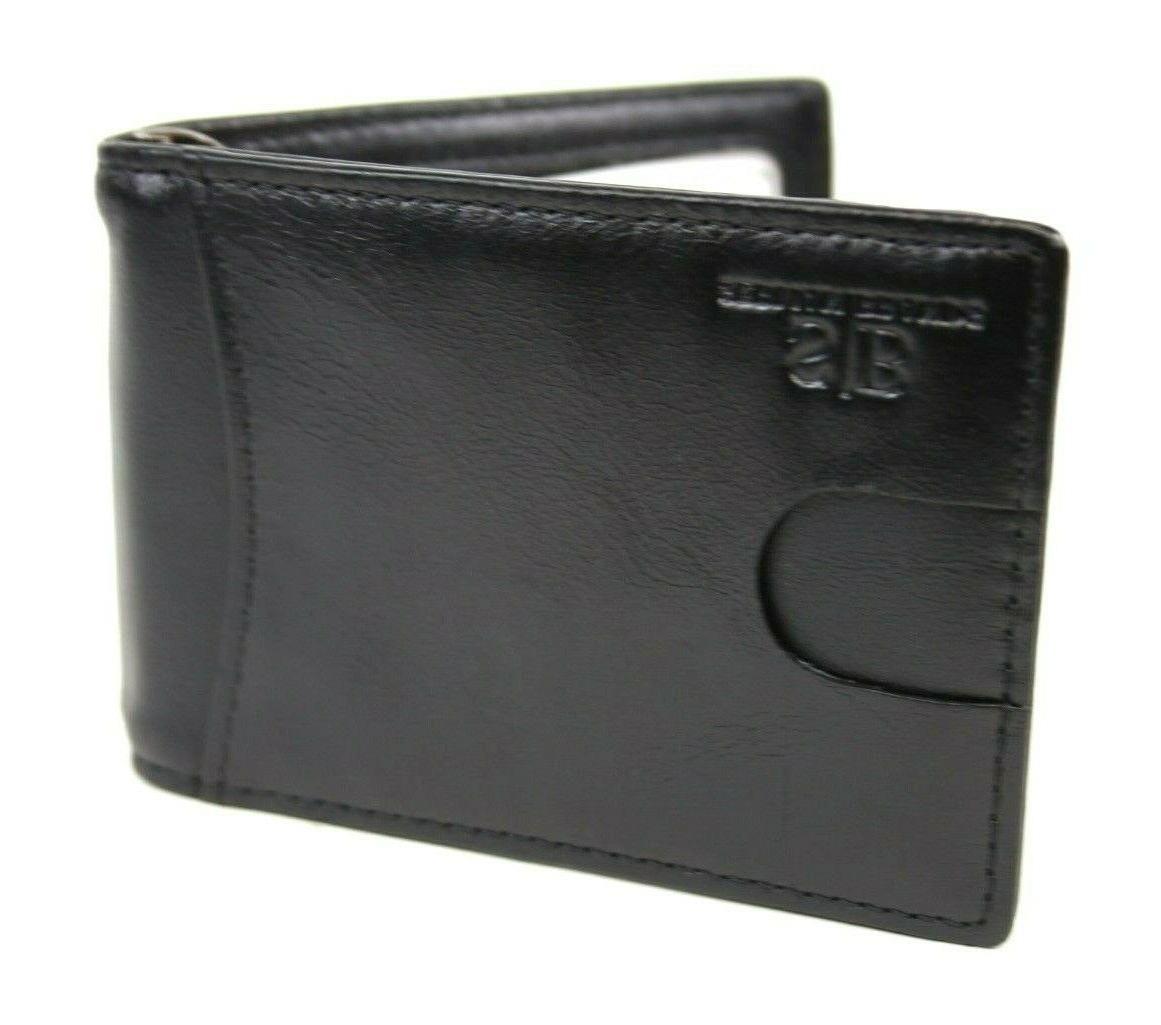 SERMAN BRANDS- Genuine Thin Minimalist Front Pocket Wallet Money