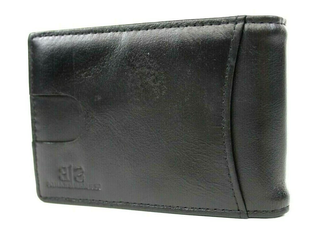 SERMAN BRANDS- Genuine Thin Minimalist Front Pocket Wallet