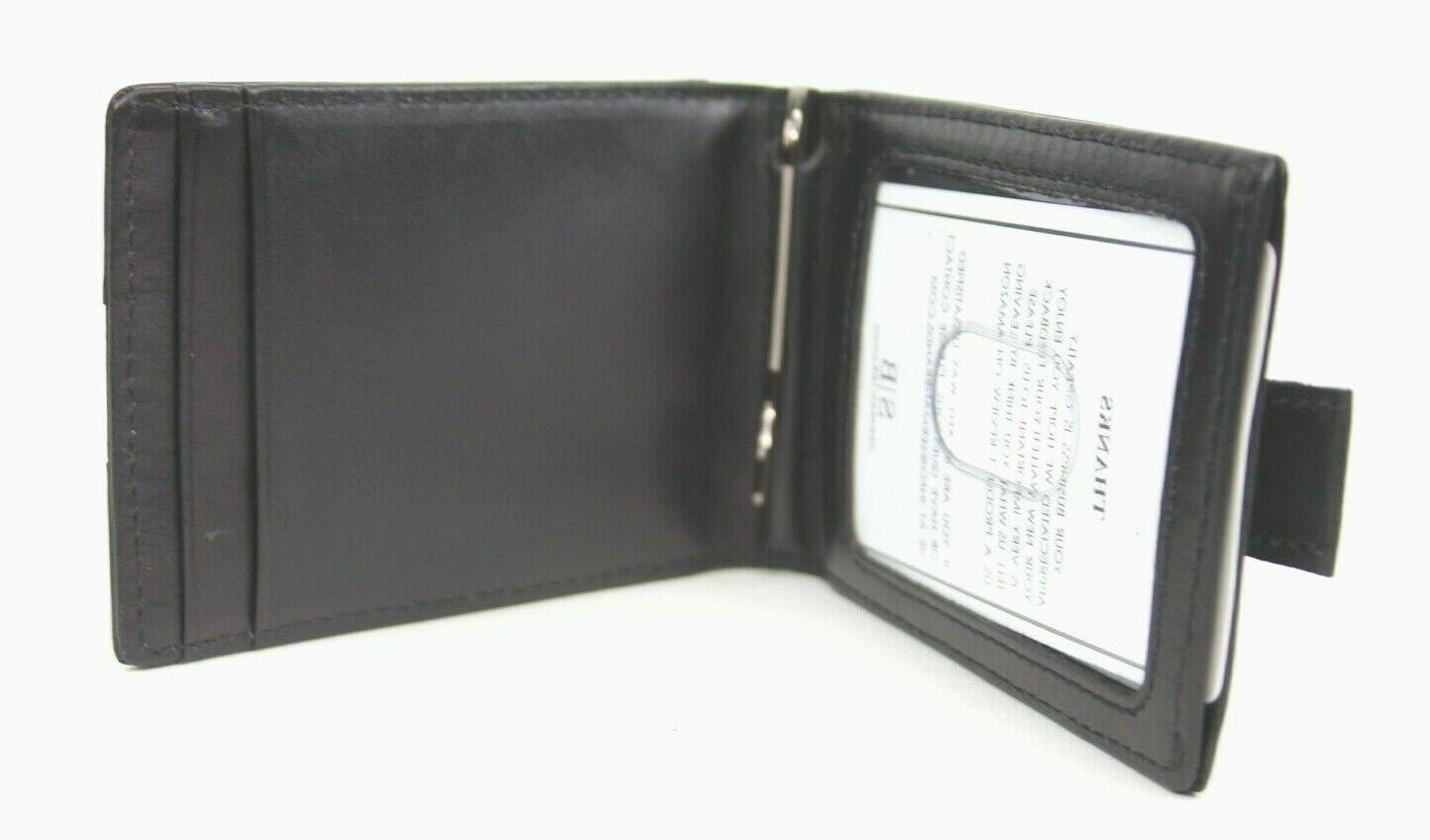 genuine leather thin minimalist front pocket wallet