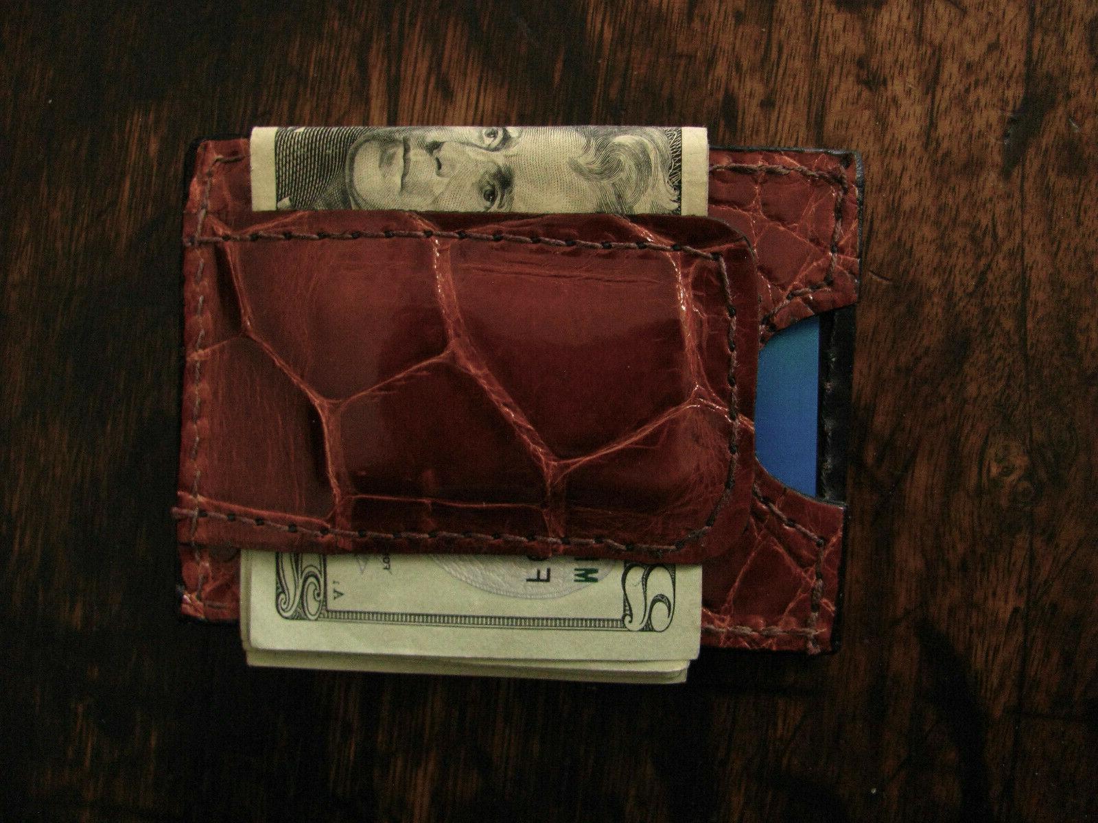 Alligator Money Clip Wallet Made