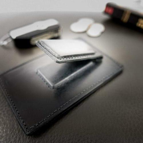 Hanks Leather Front Wallet Credit Card Holder USA