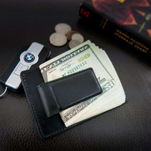 Hanks Leather Front Credit Card Holder USA MADE