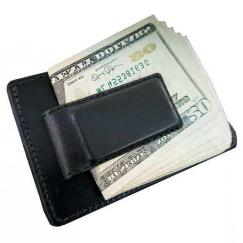 hanks leather money clip front pocket wallet