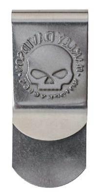 Harley-Davidson Men's Willie G Skull Metal Money Clip, Silve