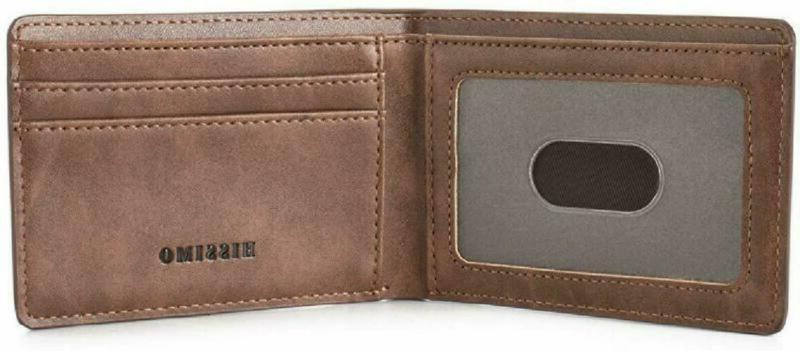 HISSIMO Mens Slim Pocket Wallet Card Blocking