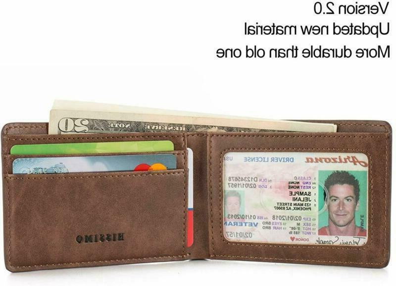 HISSIMO Mens Pocket Wallet ID Card with Blocking