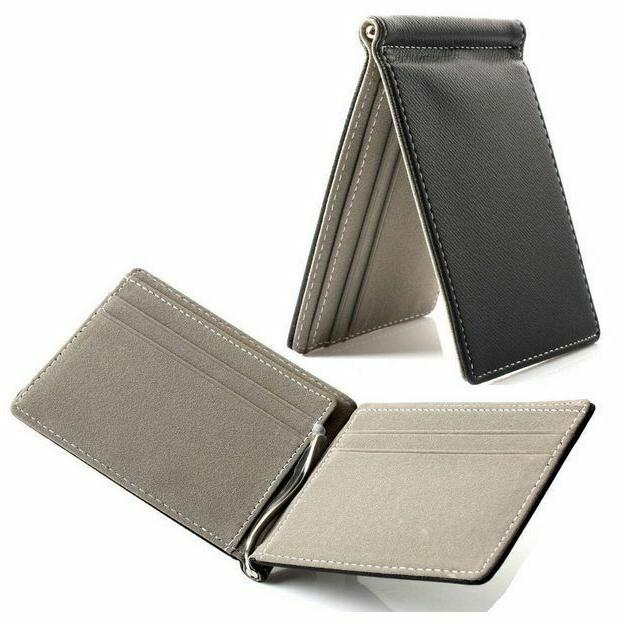 Hot Men Slim Leather Card with Money