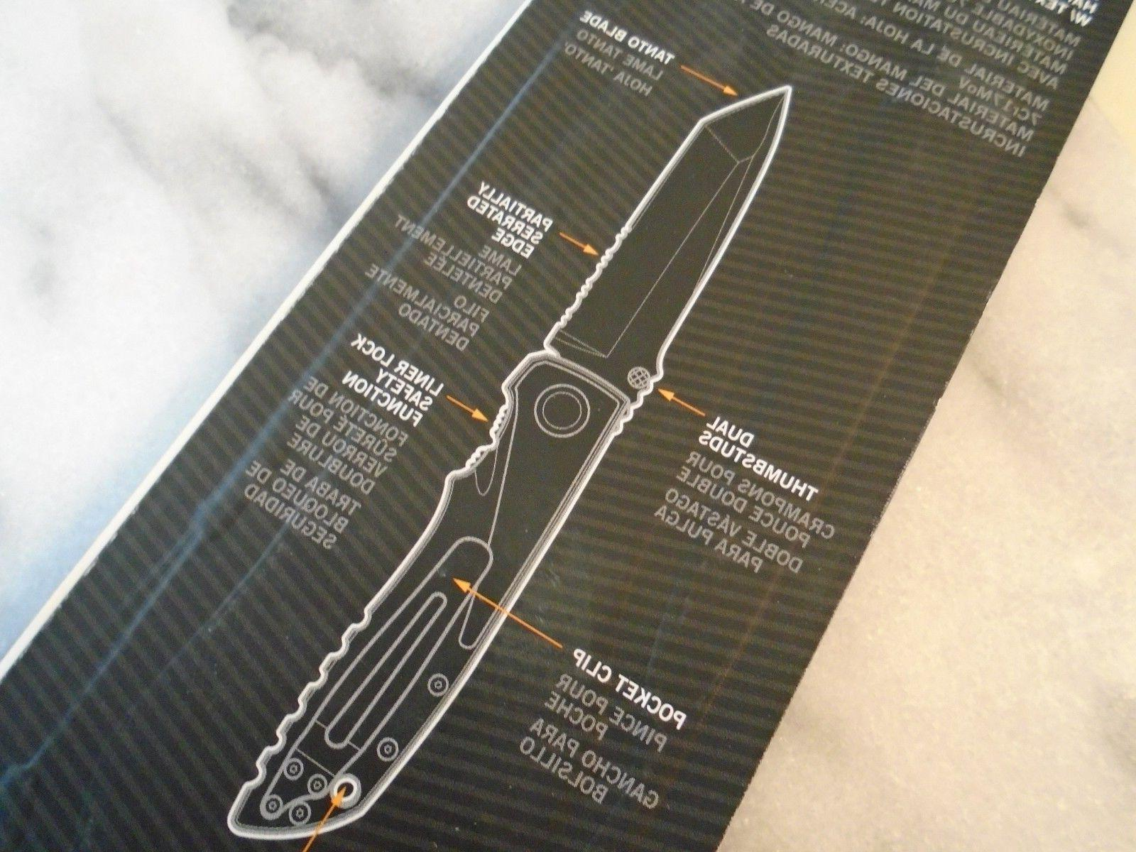 Gerber Icon Tanto Pocket Tactical 7Cr17 Open