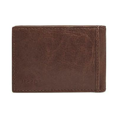 ingram money clip bifold leather