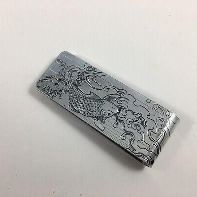 japanese money clip credit card holder wallet