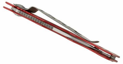 SOG Card Frame Lock Knife Red Pocket