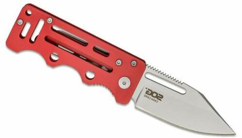 knife cash card frame lock knife red