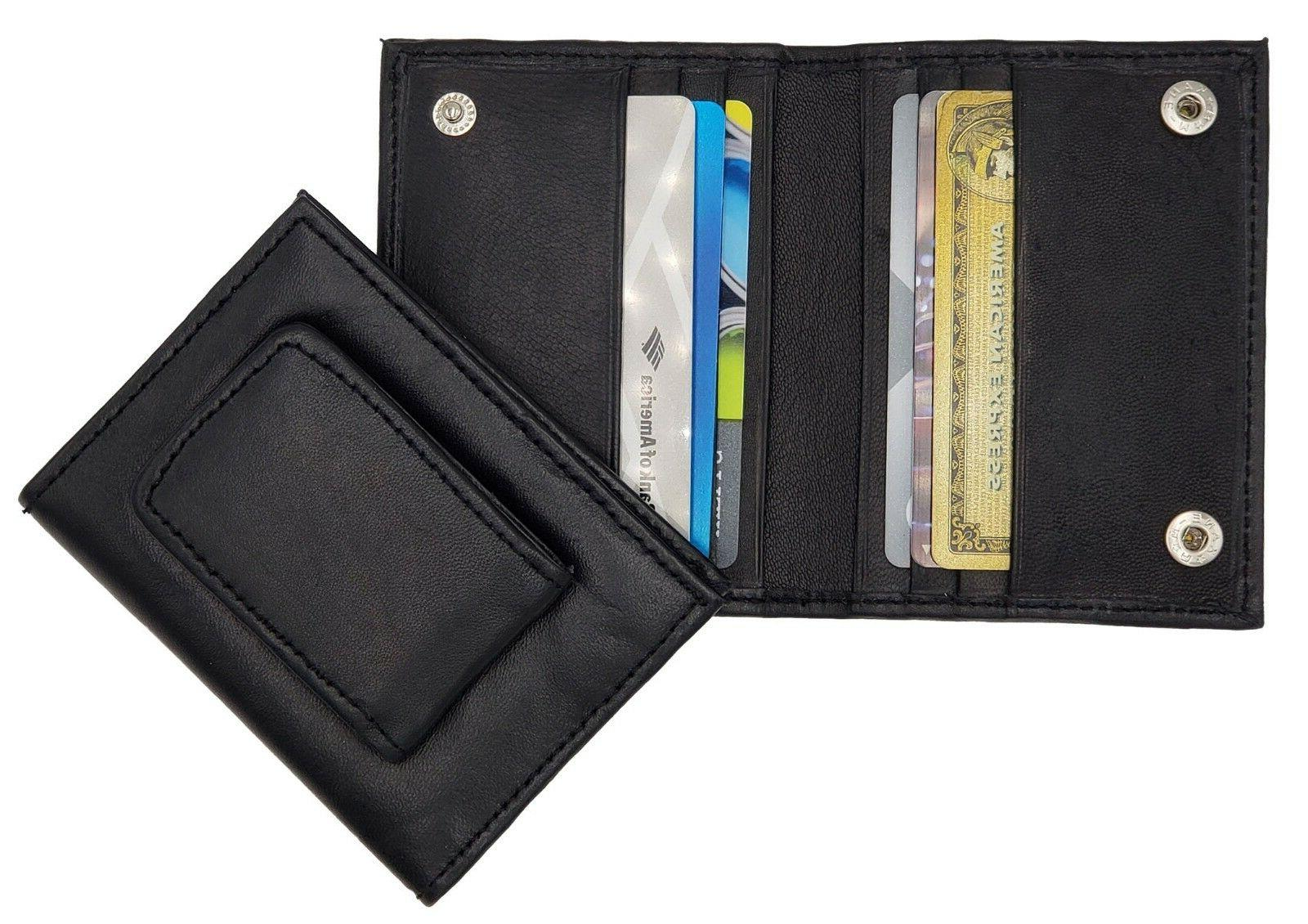 leather bifold magnetic money clip