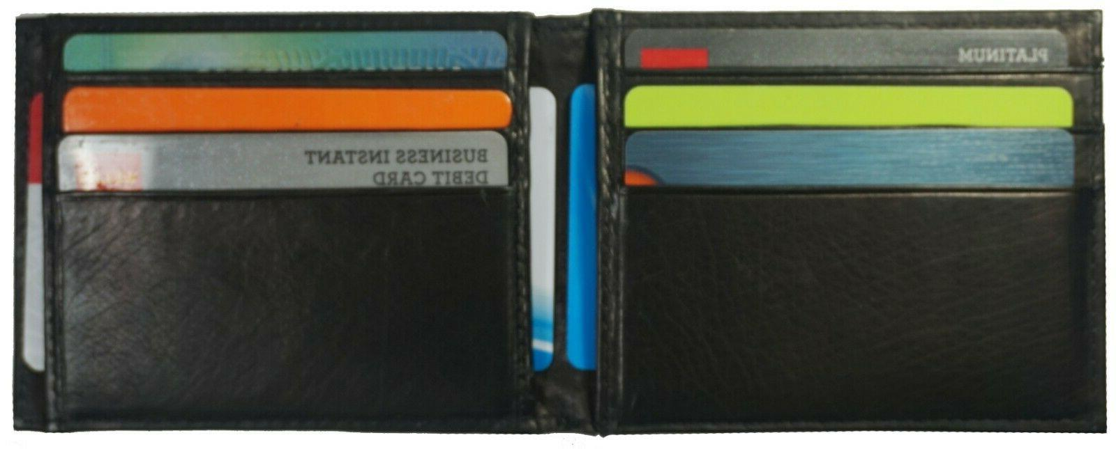 Leather Card Holder Pocket Wallet