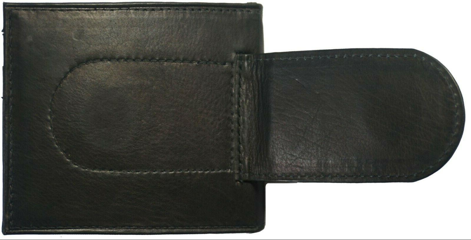 Leather Slim ID Black Wallet NW
