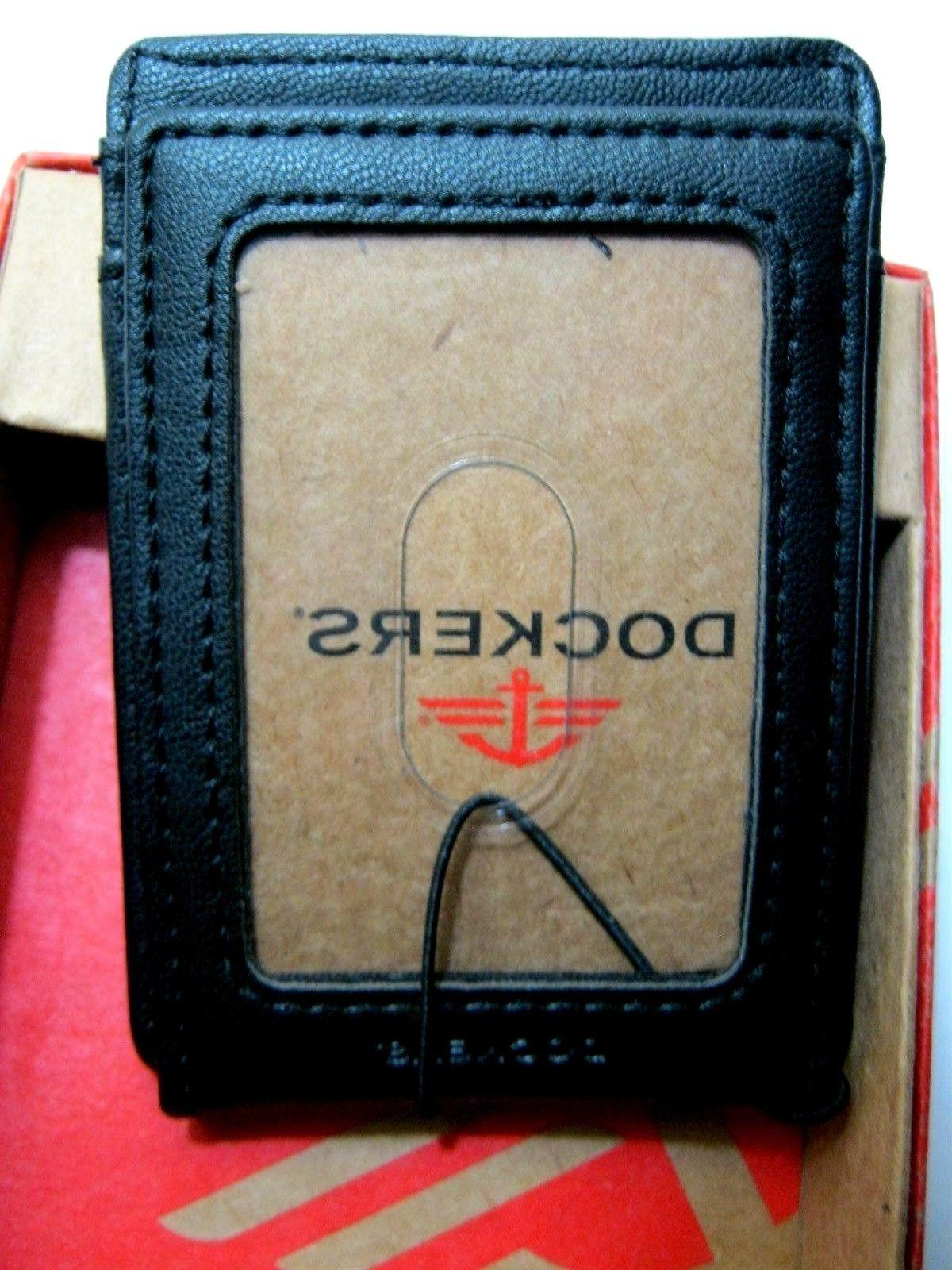 DOCKERS Leather Magnetic Money Wallet NWT