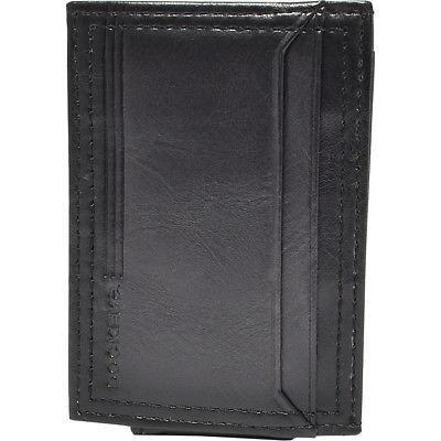 leather magnetic front pocket wallet 2 colors