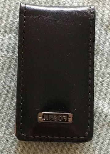 leather magnetic money clip italian genuine leather
