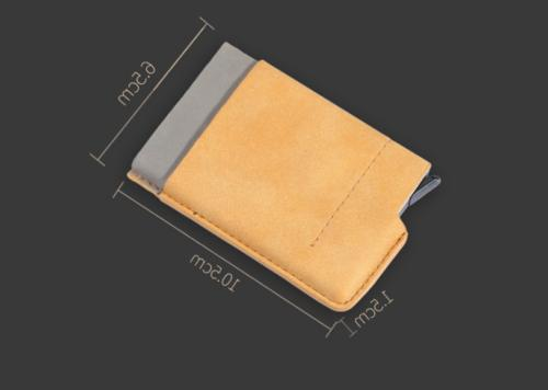 Leather Credit Card Holder Clip