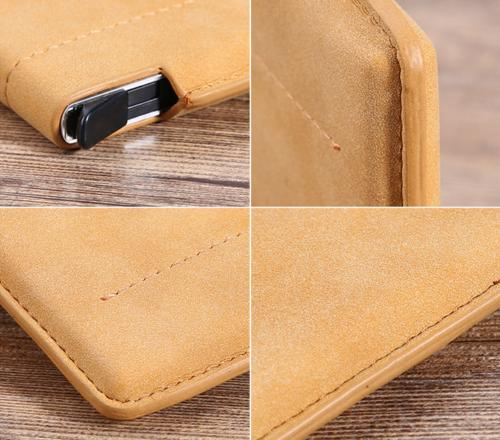 Leather Up Credit ID Holder Clip