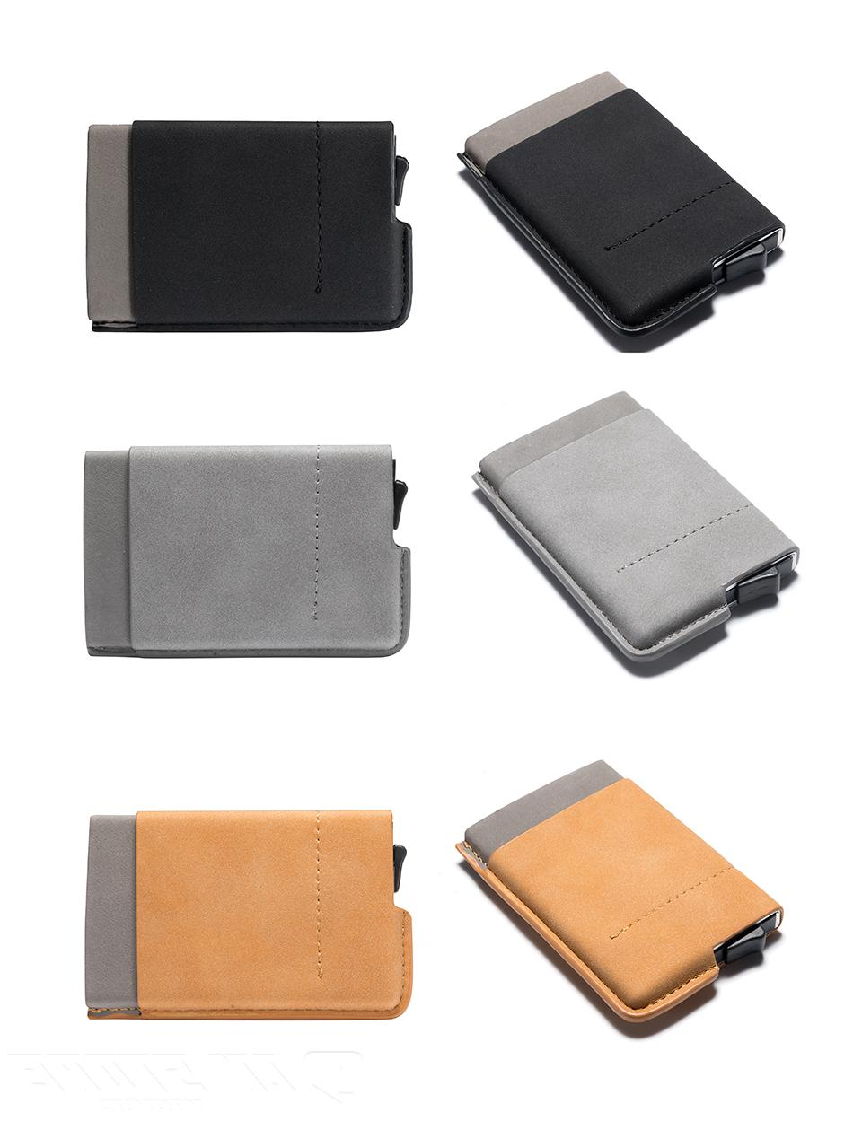 Leather Credit Card & ID Holder Clip