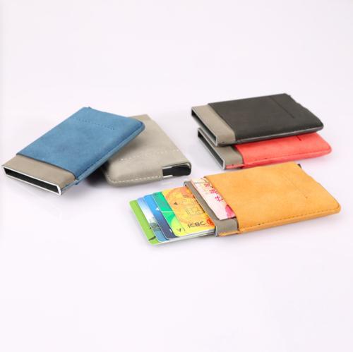 Leather Wallet Up Credit Holder