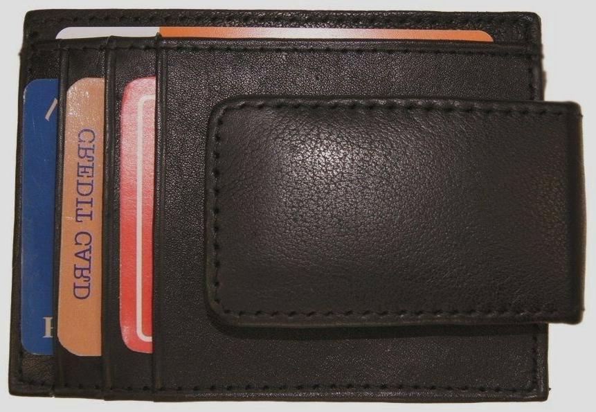 Slim Front Pocket Magnetic ID Black