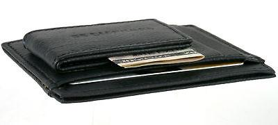 Leather Clip Card ID Window Strong 5
