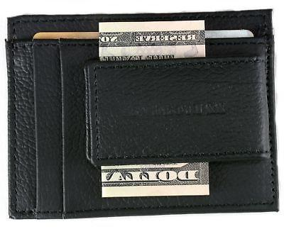 Leather Wallet Card Case ID Strong Rare Earth 5 Pockets
