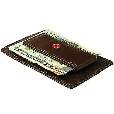 Alpine Swiss Men's Money Wallet Card 15