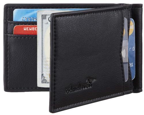 Travelambo Leather RFID Blocking Slim Minimalist Front Pocke