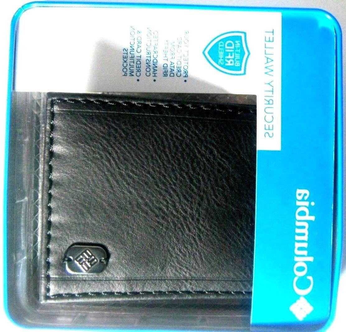 leather security black wallet anti rfid 31co1627