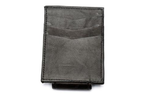 Leather Magnetic Money Clip Credit Card Men's Wallet