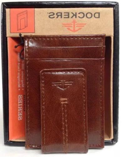DOCKERS Slim Money Clip Card ID Case Pocket