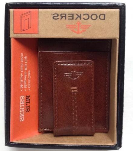 DOCKERS Leather Slim Case Pocket Wallet NEW
