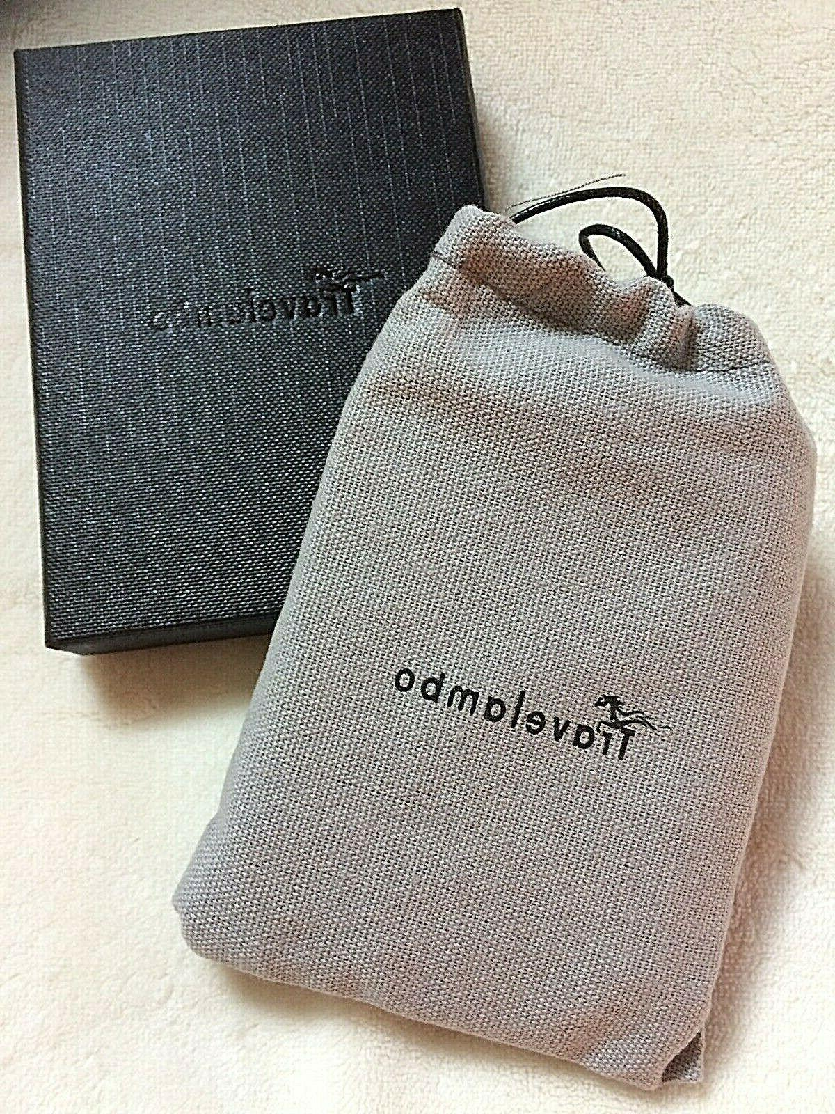 Travelambo Leather Slim Mens Wallet With and Card NEW