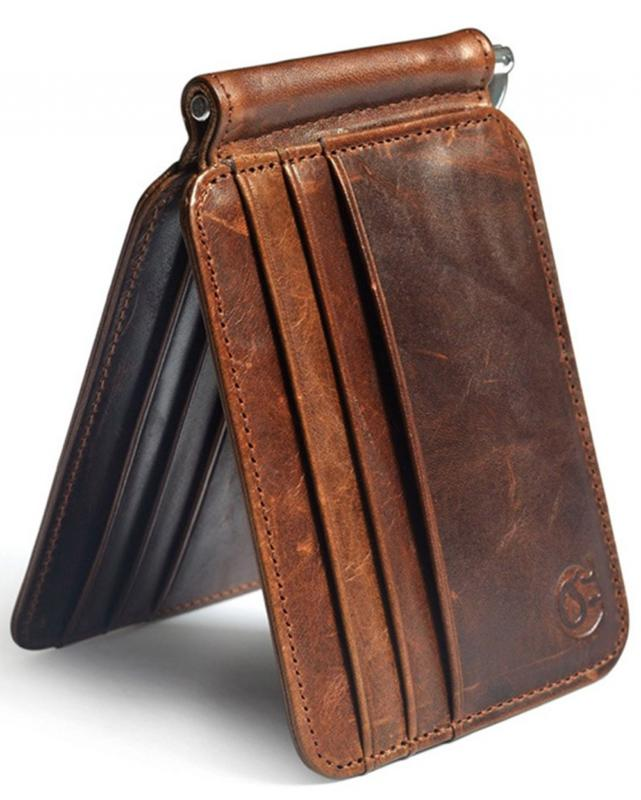 Men's Money Clip Front Pocket Credit Holder