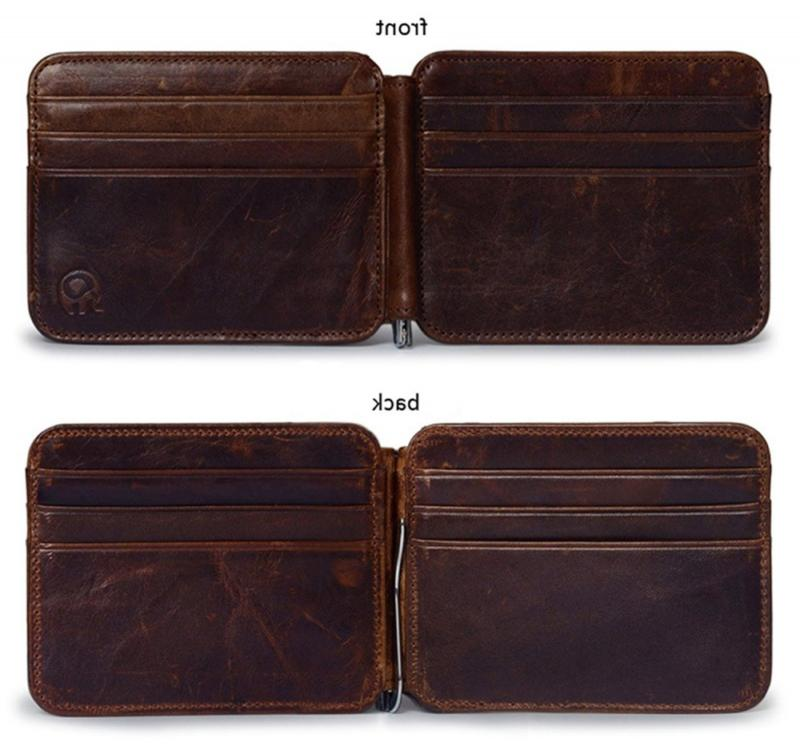 Men's Leather Pocket Credit Card Case Holder