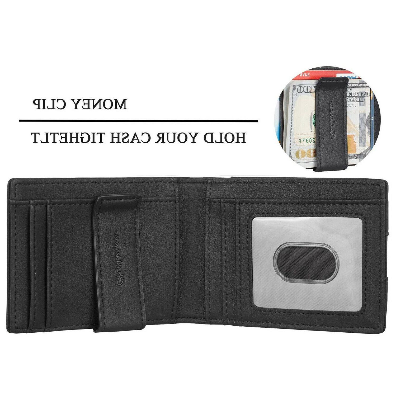 Leather Slim Pocket Money Clip