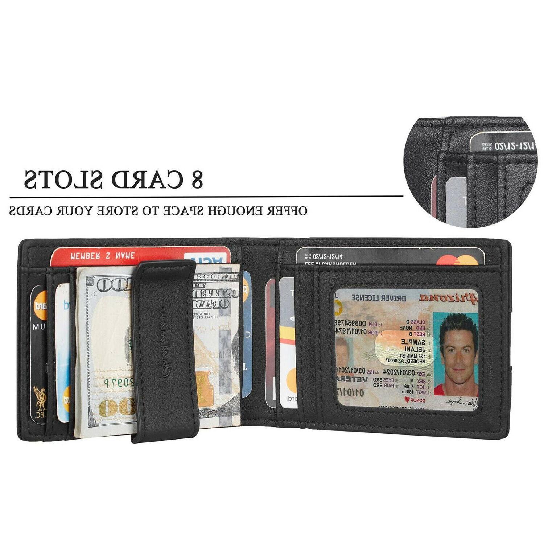 Leather Wallet Credit Card Slim Holder Pocket