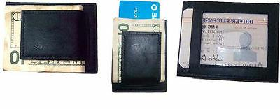 Lot of 3 Unbranded leather money clips, Money clip credit ca