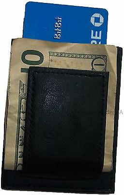 Lot 3 Unbranded leather money clips, clip credit card card