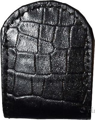 Lot 4 New Black Crocodile leather Unbranded Clip Money BN